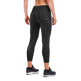 2XU Bonded Mid-Rise 7/8 Pantalones Compresión Mujer, black/paint stripe outer space